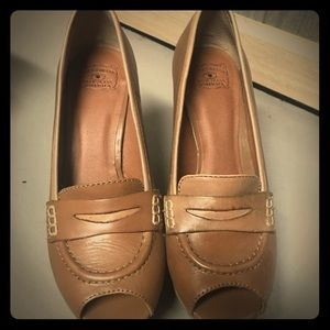 Lucky brand platform wedge loafers size 6 1/2